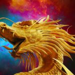 I love dragons like this golden one.