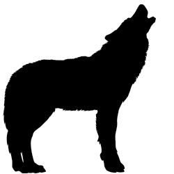Howling werewolf silhuette McMullen Pack